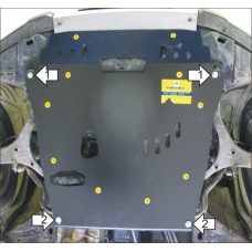 Стальная защита на Двигатель, КПП для HONDA Element 2002-2006