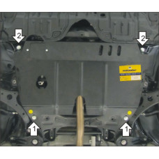 Защита стальная Мотодор на Двигатель, КПП для Lexus ES 250 2012-