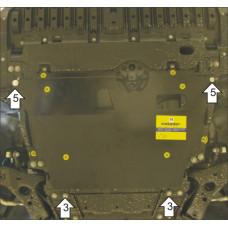 Стальная защита MOTODOR на Двигатель, КПП для TOYOTA Avensis 2009-2011