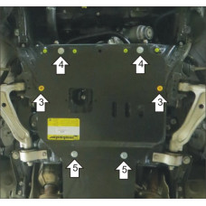 Защита стальная Мотодор на Двигатель для Lexus GS 300 2005-2015