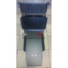 Защита картера и КПП Nissan Terrano R50 (3 части) 1997-2002 сталь 2мм