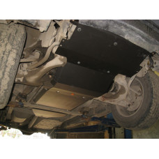 Защита радиатора и редуктора переднего моста Hyundai Terracan (2 части) 2001-2003 сталь 2мм