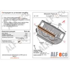 Защита радиатора Mitsubishi Pajero III-IV 2000-2015 сталь 2мм