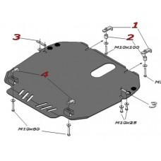Защита картера и КПП Mazda MPV 4WD 2006- сталь 2мм