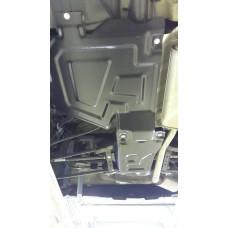 Защита топливного бака Nissan Terrano 4WD Рейстайлинг 2016- сталь 2мм